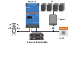Pack Back up alimentation de secours - Pylontech US2000 4.8kWh + Victron Energy multiplus II GX 3000