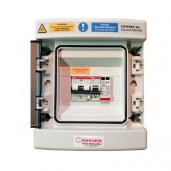 coffret de protectionAC  type B pour installation solaire monophasé avec batteries