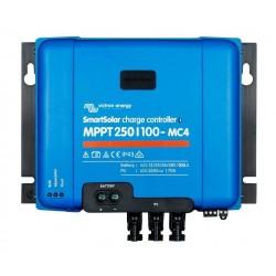 Régulateur de charge Victron Energy - MPPT SmartSolar 250/100-MC4 VE.Can de face sur fond blanc