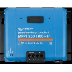 Régulateur de charge Victron Energy - MPPT SmartSolar 250/100-TR VE.Can de face sur fond blanc