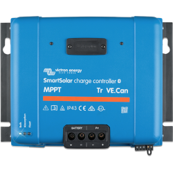 Régulateur de charge Victron Energy - MPPT SmartSolar 250/85-TR VE.Can de face sur fond blanc