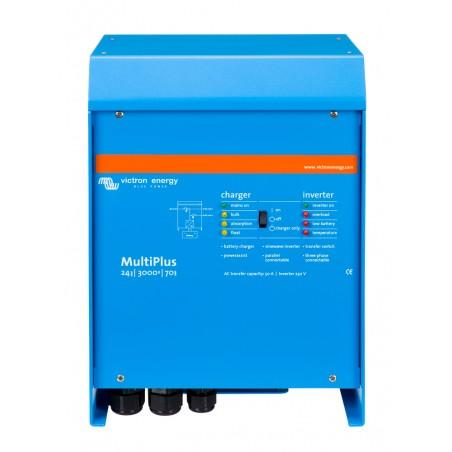 Convertisseur/chargeur Victron Energy MultiPlus 24/3000/70-50 de face sur fond blanc