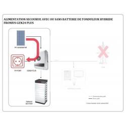 Kit solaire autoconsommation Hybride Triphasé 6.0 avec batteries - 5920Wc - 7.7kWh