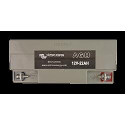 Batterie Victron Energy - 12V/22Ah AGM Deep Cycle de dessus sur fond blanc