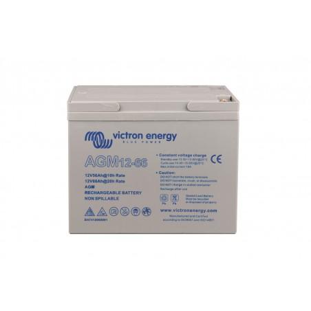 Batterie AGM Victron Energy - 12V/66Ah AGM Deep Cycle de face sur fond blanc