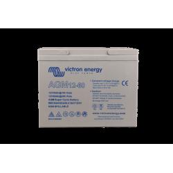 Batterie AGM Victron Energy - 12V/60Ah Super Cycle (M5) de face sur fond blanc
