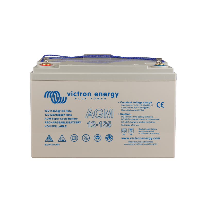 Batterie AGM Victron Energy - 12V/125Ah AGM Super Cycle (M8)