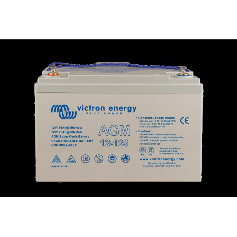 Batterie AGM Victron Energy - 12V/125Ah AGM Super Cycle (M8)