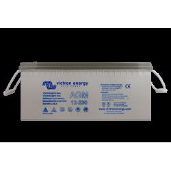 Batterie AGM Victron Energy - 12V/230Ah AGM Super Cycle (M8) de face sur fond blanc