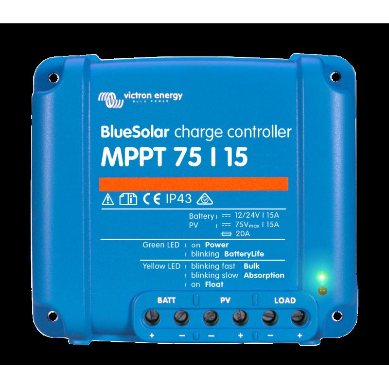 Régulateur de charge solaire - Victron Energy BlueSolar MPPT MPPT 75/15