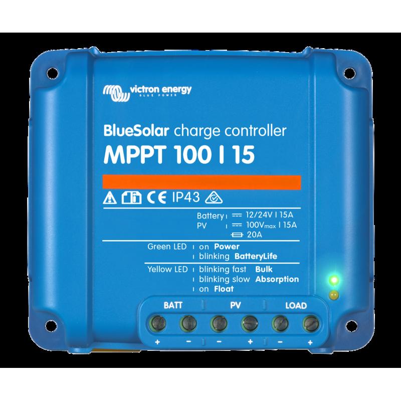 régulateur de charge solaire - Victron Energy BlueSolar MPPT 100/15