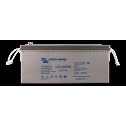 Batterie Victron Energy - Lead Carbon Battery 12V/160Ah (M8) de face sur fond blanc